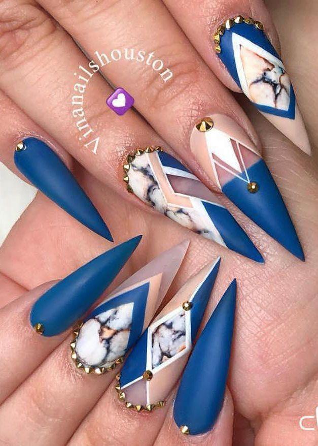 40 trendige Stiletto Nail Art Designs für Inspiration # Fingernägel Ideen – Fingernägel