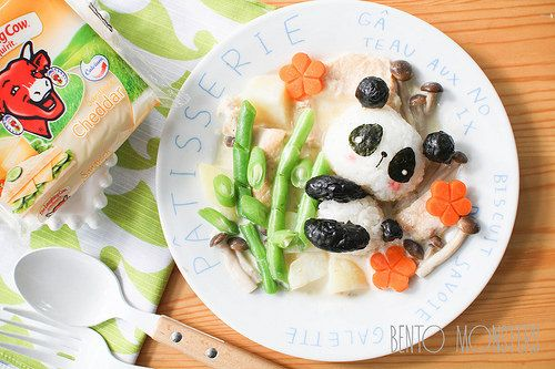 Panda Cheese Cream Stew Bento | Bento Monsters