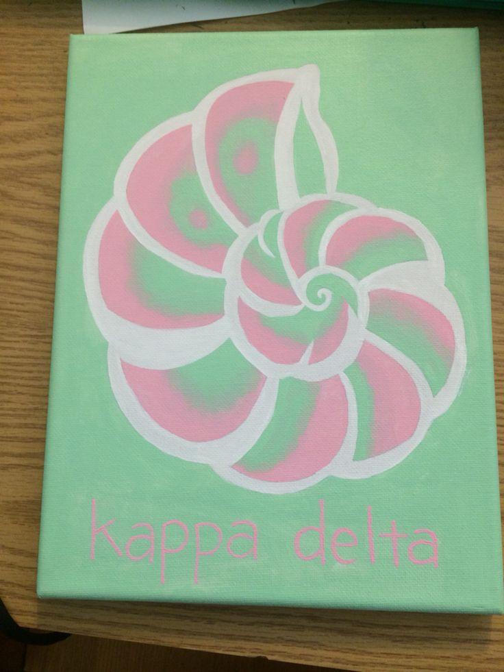 Kappa Delta nautilus shell canvas