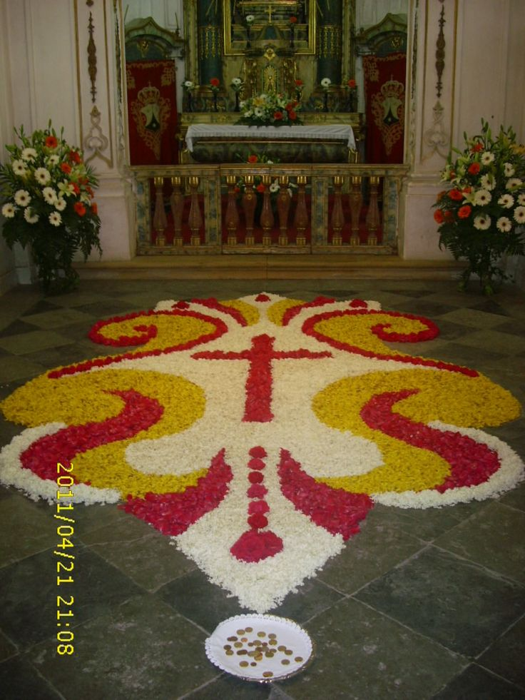 138 best images about alfombras corpus on pinterest flower carpets and camino de santiago - Alfombras portugal ...