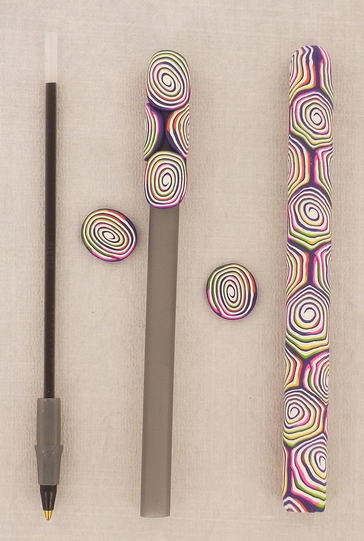 Sculpey® Cane Covered Pens ~ teacher gift next year???