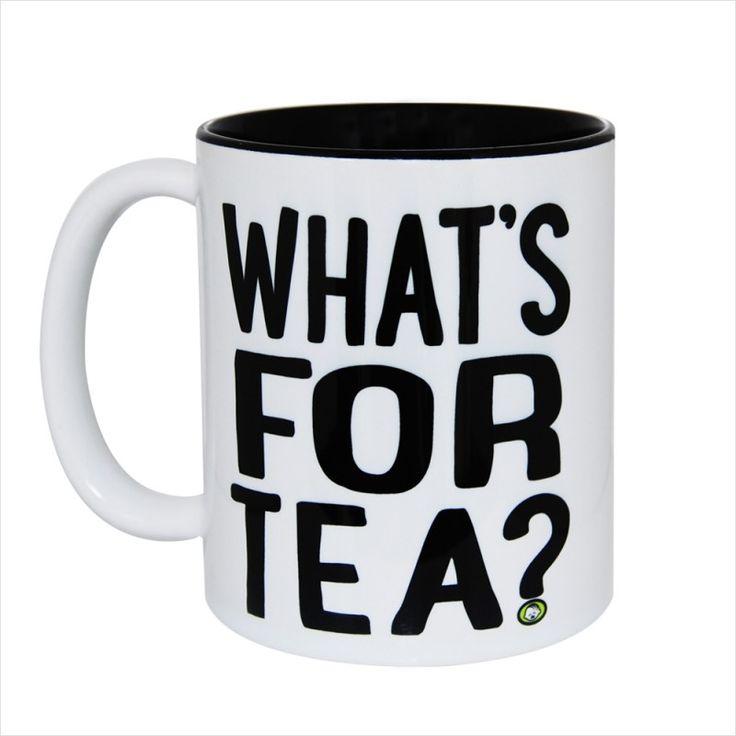 What's For tea Gift Mug & Tin/Box by HairyBaby.com