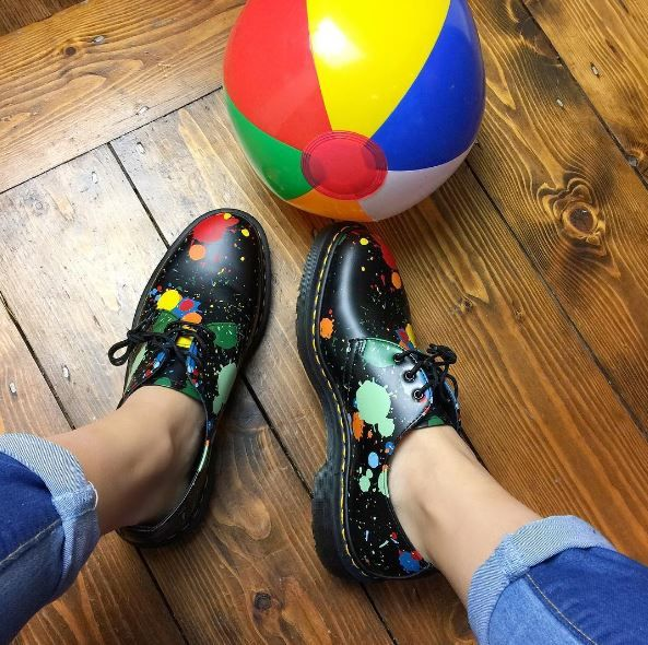 The Paint Splatter 1461 shoe, shared by heidipetite.