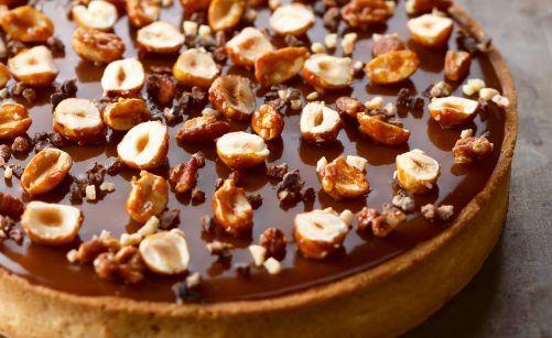Recette de tarte caramel noix de pécan par Christophe Adam