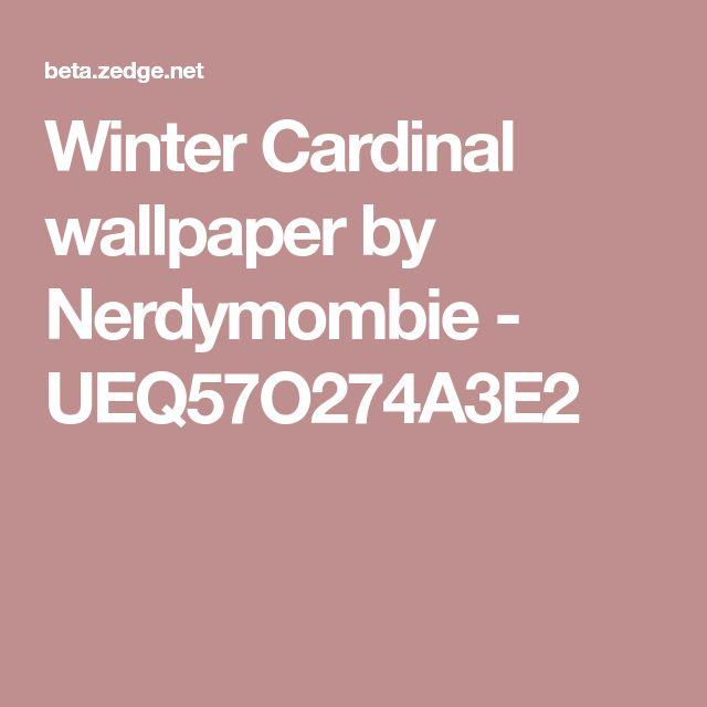 Winter Cardinal wallpaper by Nerdymombie - UEQ57O274A3E2