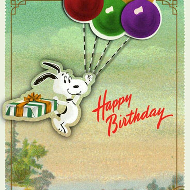 Happy birthday snoopy Feliz cumpleaños de snoopy