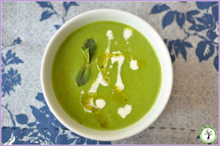Peas and mint cream soup recipe