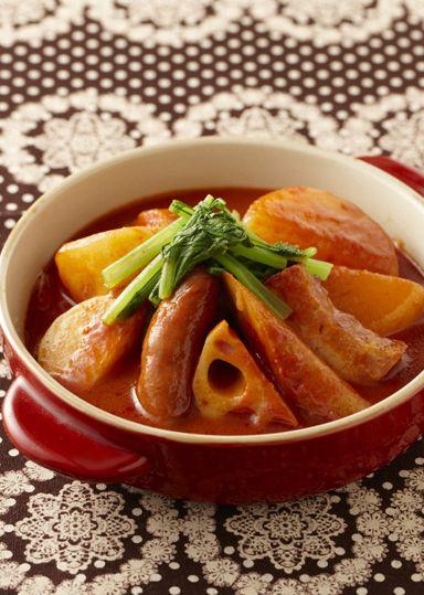 根菜トマトおでん のレシピ・作り方 │ABCクッキングスタジオのレシピ ... トマトジュースに日の出 昔ながらの本みりん・日の出 純米料理酒の旨みをたっぷりと加え、コンソメ・塩で味をととのえたスープで根菜をコトコトと煮込み、洋風のおでん ...
