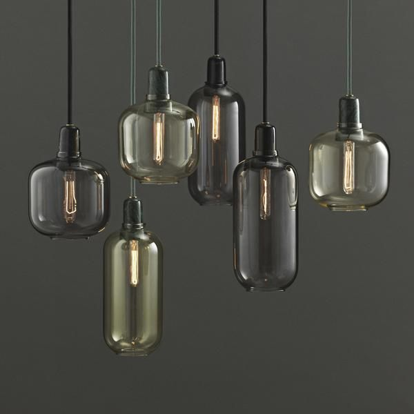 Amp is a range of small lamps inspired by old tube amplifiers from the 1960s. The unique shapes and classic materials of marble and glass add a nostalgic and at the same time, contemporary feel to Amp