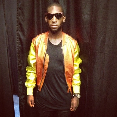 Tinnie Tempah wears Burberry Prorsurm S/S 2013 at the #closingceremony of #Olympic_Games
