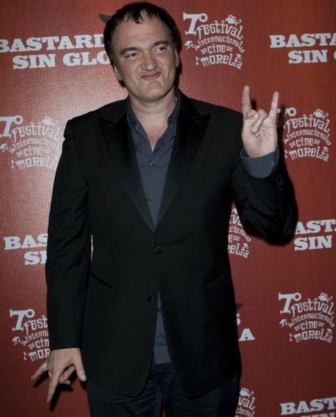 Tarantino likes Satan and its horns. Illuminati celebs.