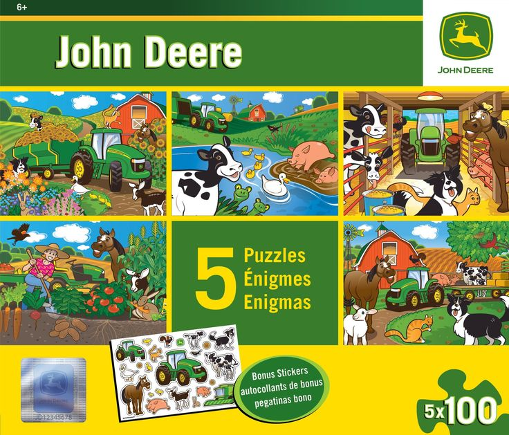 John Deere - Multi-pack Jigsaw Puzzle with Stickers