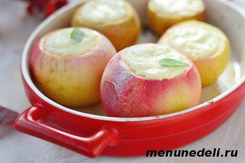 Яблоки, запеченные с творогом - вкусный и полезный десерт