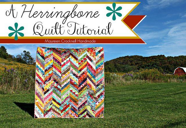 A Herringbone Quilt Tutorial // Maureen Cracknell Handmade | Flickr - Photo Sharing!
