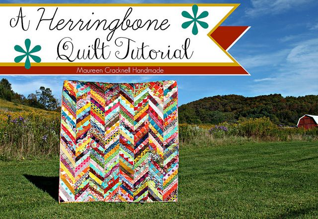 A Herringbone Quilt Tutorial // Maureen Cracknell Handmade by maureencracknell, via Flickr