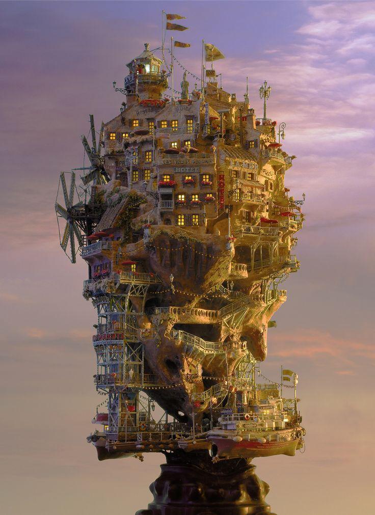 """The Rock Island with Sunset"" by Takanori Aiba"