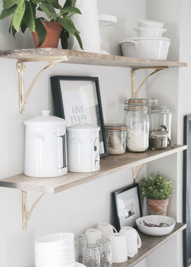 best 25 brass shelf brackets ideas on pinterest kitchen shelves shelves with brackets and open shelving