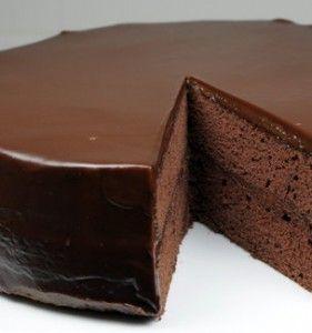 Recipe For  Flourless Chocolate Cake with Chocolate Glaze