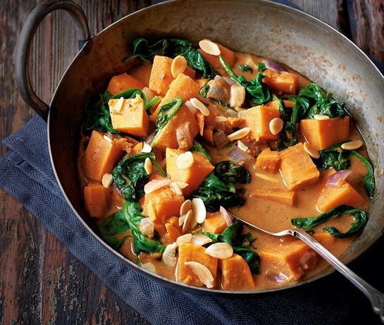 Sweet potato and spinach curry | ASDA Recipes