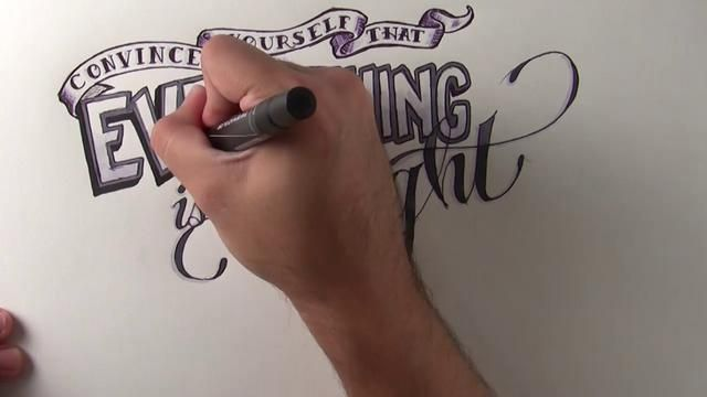 """For Nancy - Pete Yorn : Time Lapse Lettering by Bobby Roman. This is a hand lettering time lapse piece set to the song """"For Nancy"""" by Pete Yorn off of his 2001 album Music For The Morning After"""