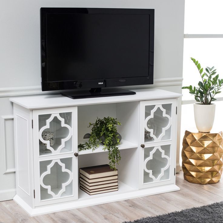 Moroccan-inspired TV stand