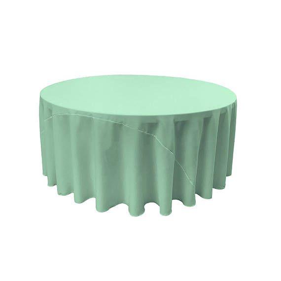 TEXTILES L.A. Polyester Popeline nappe ronde, 120 pouces, (menthe)