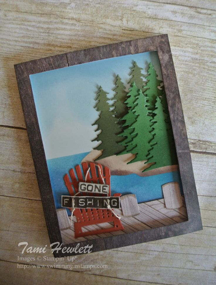 Gone Fishing - #GDP103 | Swimming In Stamps Card Front Builder Framelits