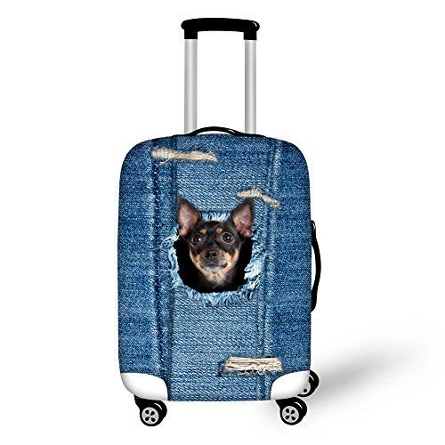 """New Trending Luggage: HUGSIDEA 26/28/30 Inch Travel Luggage Protective Elastic Suitcase Cover Denim Black Dog Design. HUGSIDEA 26/28/30 Inch Travel Luggage Protective Elastic Suitcase Cover Denim Black Dog Design  Special Offer: $22.99  322 Reviews Welcome to HUGSIDEA;""""hug creativity,hug life"""",HUGSIDEA bring you into a magic kingdom. Specially equiped with elastic spandex material and..."""
