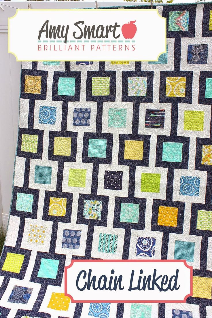"""Diary of a Quilter: New Amy Smart Quilt Pattern - Chain Linked. Perfect for 5"""" charm squares."""