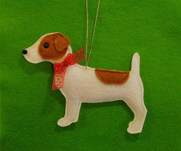 felt ornament patterns for free | Jack Russell Felt Dog Ornament Personalized Free