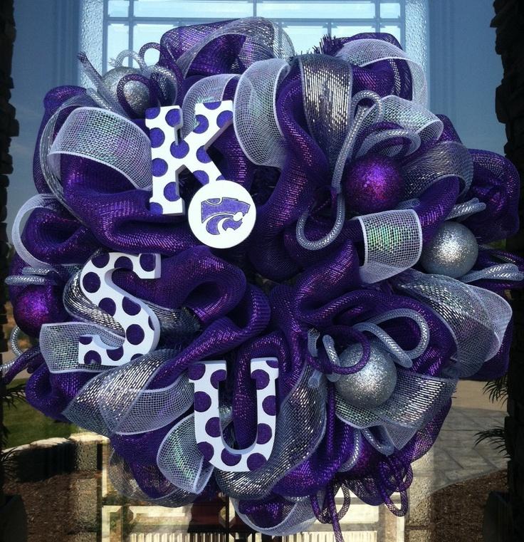 Kansas State Wildcats deco mesh Wreath.. LOVE!!!!: Team Wreaths, Wildcats Deco, Packers Wreaths, K States, Diy Crafts, Kansas States Wildcats, Ksu Wildcats, Deco Mesh Wreaths, U.S. States