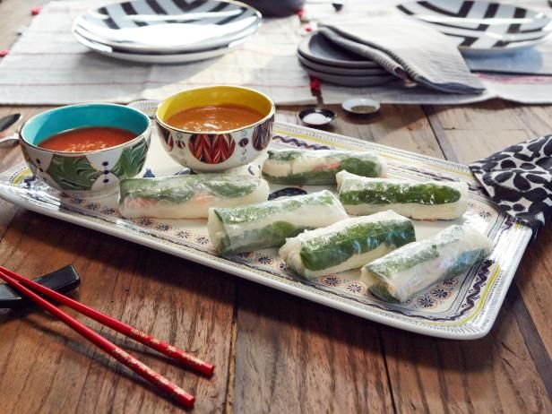 Get Summer Rolls Recipe from Cooking Channel Dinner at Tiffani's Asian Inspiration