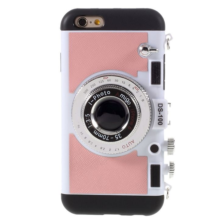 Coque iPhone 6 / 6s Retro Camera - Rose