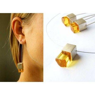 Bernstein - Ohrringe, Bernsteinohrringe, Silber, NEU - Unikat  - ein Designerstück von SchmuckMitSeele bei DaWanda