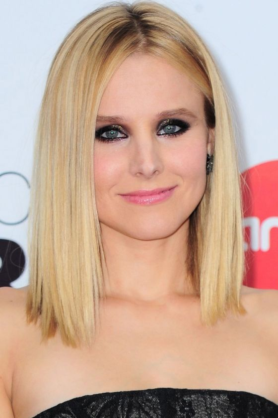 one length haircuts hairstyles your a list inspiration kristen bell 2342