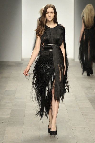 Dress made of hair. My life is complete. From Pheobe English's Graduate Show