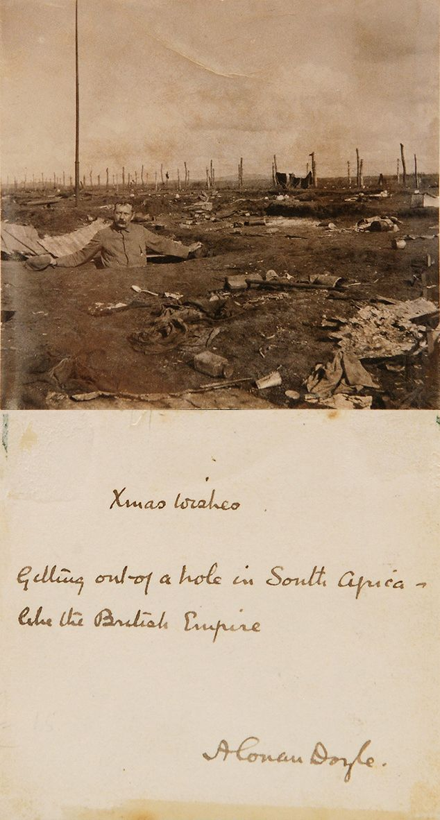 Signed photo of Conan Doyle in South Africa during the Boer War (1900)…