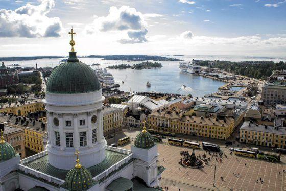 Bird`s eye view of Helsinki - by the Finnish newspaper Helsingin Sanomat (HS)