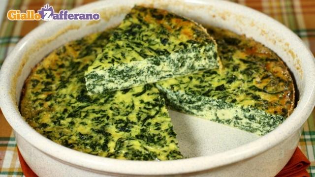 Frittata al forno ricotta e spinaci