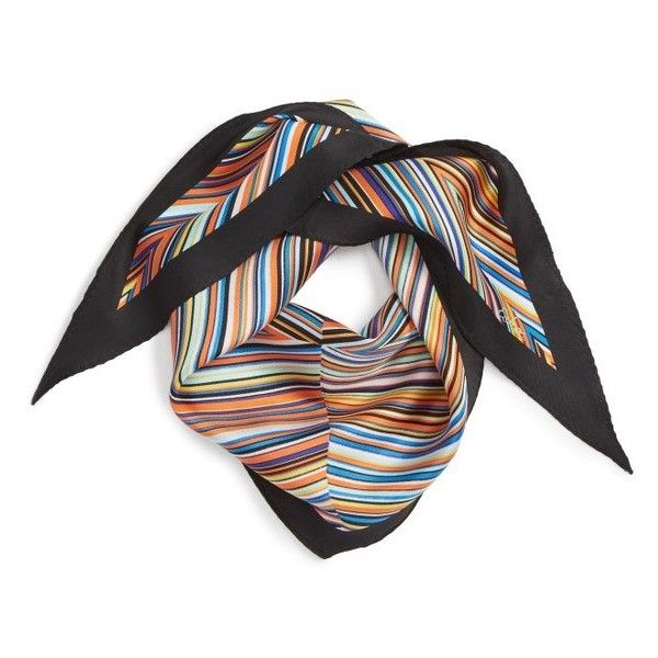 Women's Echo Stripe Silk Scarf ($39) ❤ liked on Polyvore featuring accessories, scarves, striped scarves, striped shawl, echo scarves, silk scarves and silk shawl