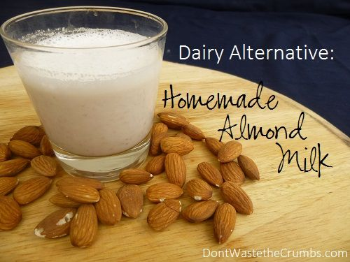 This simple homemade almond milk is one of the best dairy alternatives and it's healthier and less expensive than store-bought!  :: DontWastetheCrumbs.com