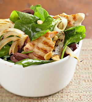 grilled chicken wilted saladWilted Salad, Healthy Dinners, Dinner Options, Grilled Chicken, Proteinpack Mealinabowl, Favorite Recipe, 30 Minute, Chicken Wilted, Protein Pack Meals In A Bowls