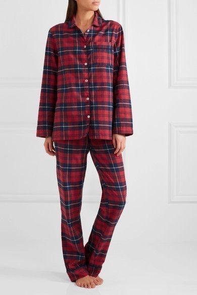 Three J NYC | Jamie plaid cotton-flannel pajama set | NET-A-PORTER.COM