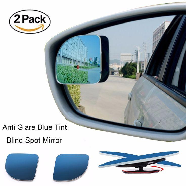 2 יח'\חבילה סטיילינג רכב 360 תואר רכב מראה עגול זווית רחבה גשם מראה כתם העיוור קמור אחורי חניה צל