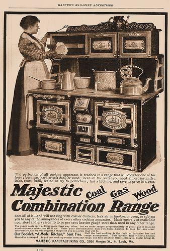 Majestic Combination Range: A Versatile Kitchen Stove U0026 Oven That Burns  Hard Coal, Soft