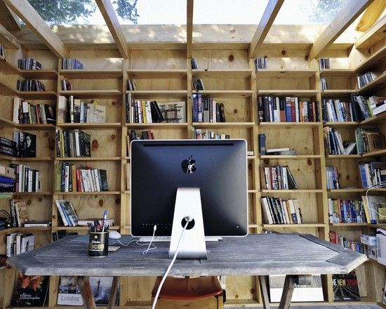 Floor To Ceiling Book Shelves Could Easily Be A Diy