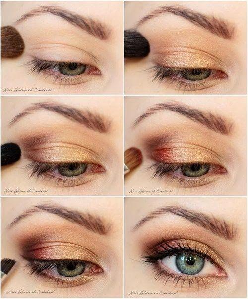 Fall inspired makeup tutorial, rose gold eye make up.
