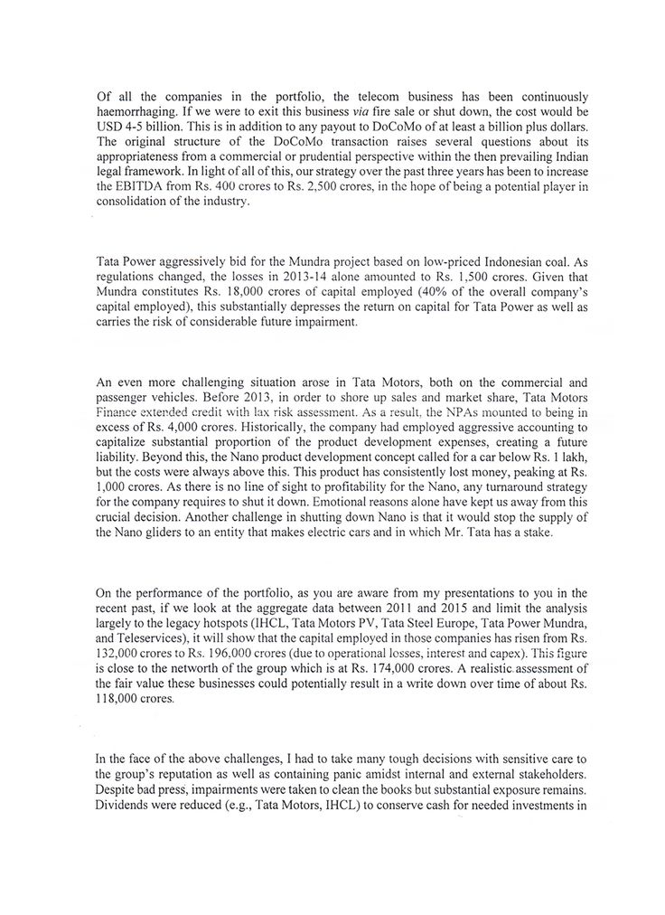A Full Reproduction Of Cyrus Mistry's October 25 Letter To The Tata Sons Board