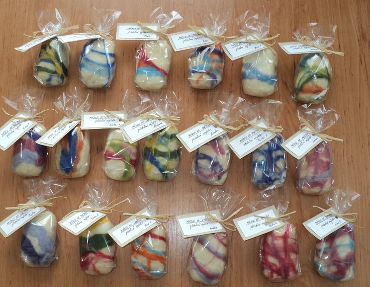 Plstěná mýdla - dárky pro maminky