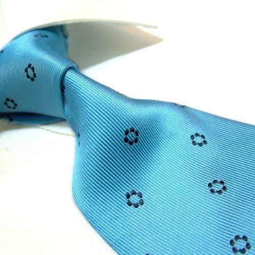 Towergem 100% Silk Blue Tie For men Necktie